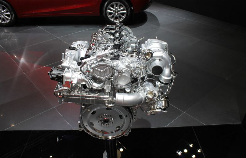 Mazda's 2.2-litre turbo-diesel engine will eventually find its way to North America.