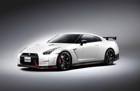 The Nissan GT-R Nismo benefits from tweaks like larger turbochargers and a retuned intake, good for a power bump to 585 hp and 480 lb.-ft. of torque.