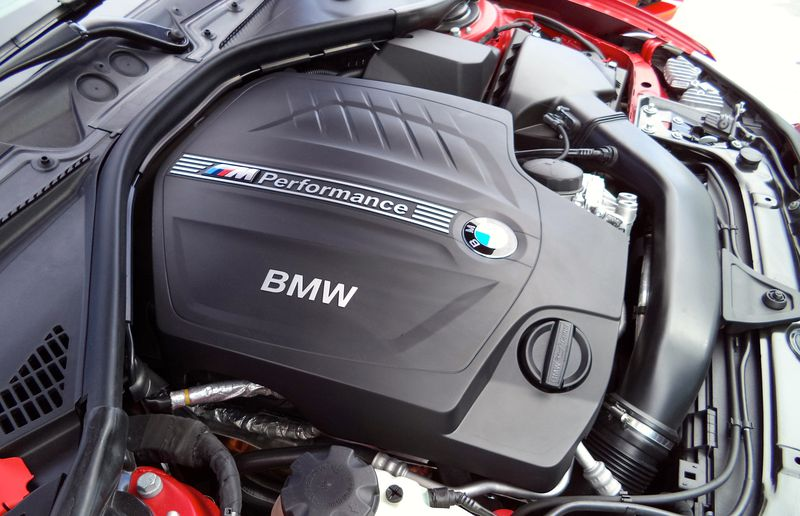 The BMW M235i Coupe features a straight-six, turbocharged 3.0L gas engine rated at 315 hp and 332 lb.-ft.