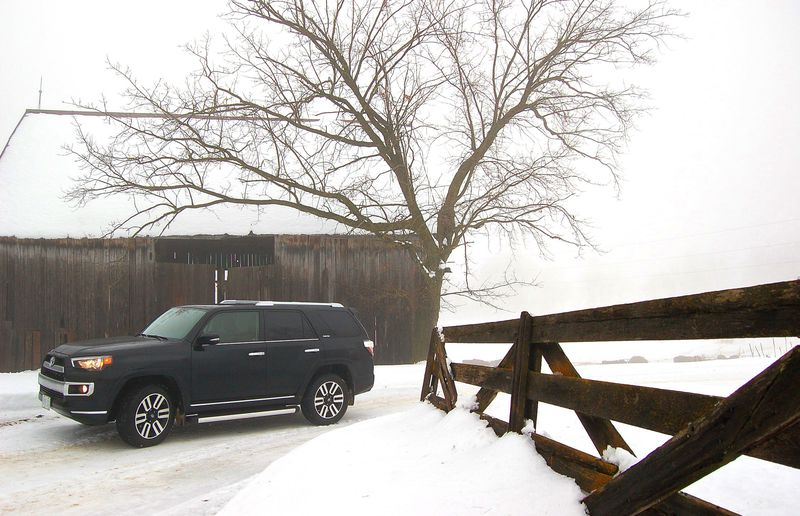 2014 Toyota 4Runner Limited has done a good dispensing with winter roads.