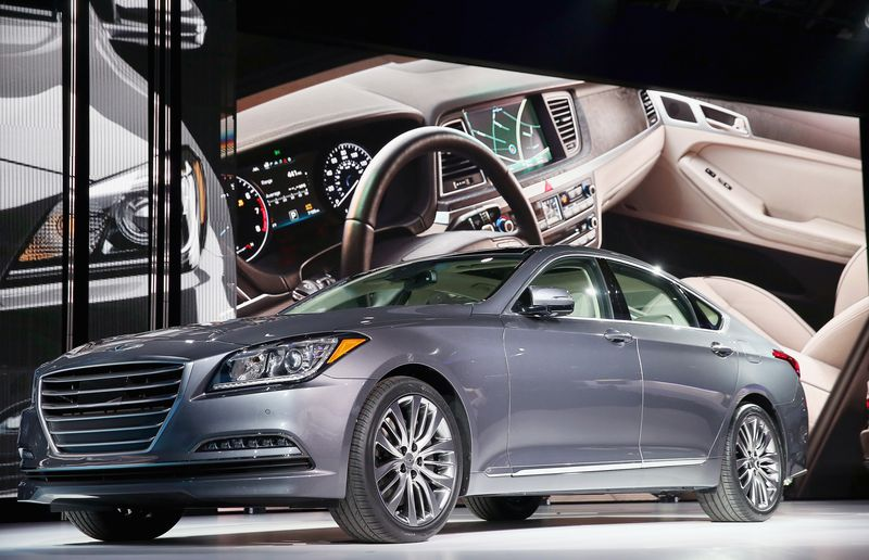 Hyundai introduces 2015 Genesis at the North American International Auto Show (NAIAS) on January 13, 2014 in Detroit, Michigan.