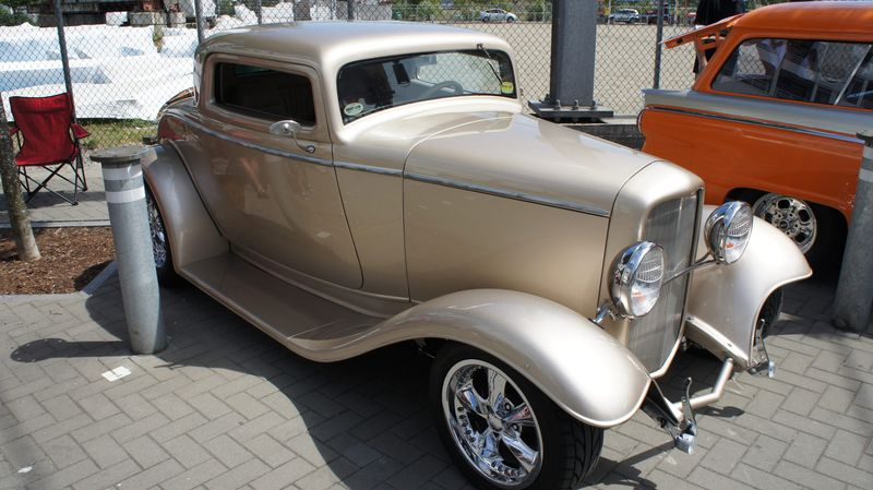 The 1932 Ford coupe street rod owned by 81-year-old Jerry Abramson which is similar to the hot rod he drove 60 years ago.
