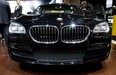A BMW 2015 740Ld xDrive Sedan is displayed during the media preview of the Chicago Auto Show.
