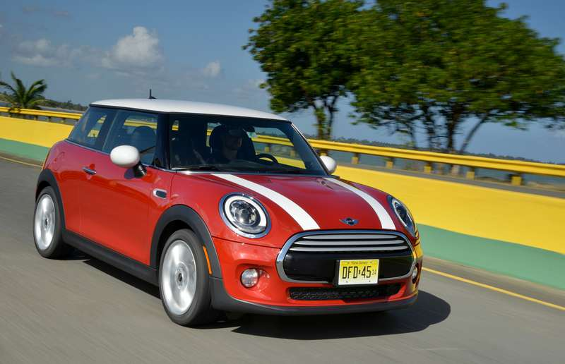 With it's turbocharged three-cylinder engine, the base Mini Cooper is more fun than the S variant.