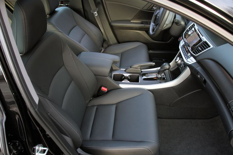 The Accord is very comfortable for four adults. Five can fit in a pinch.