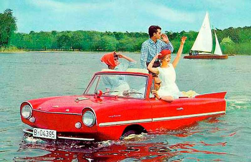 The Amphicar of the 1960s allowed drivers to take to the waterways in style. How come modern cars aren't equipped with amphibious capabilities?