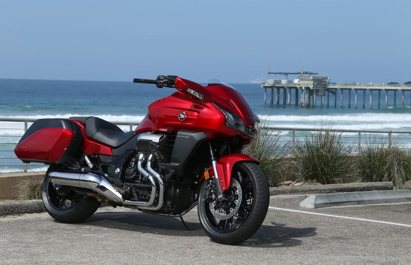 The Honda CTX1300 is comfortable to ride on long trips to the beach thanks to its broad and flat seat.