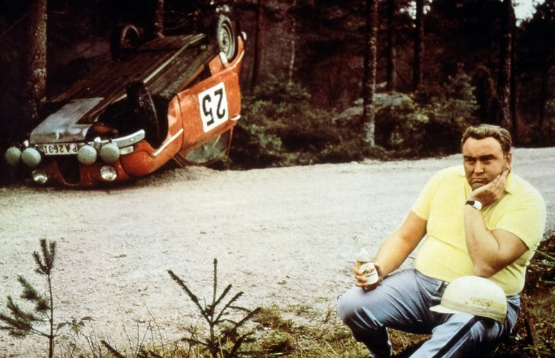 You can tell Erik Carlsson isn't a conventional rally driver.