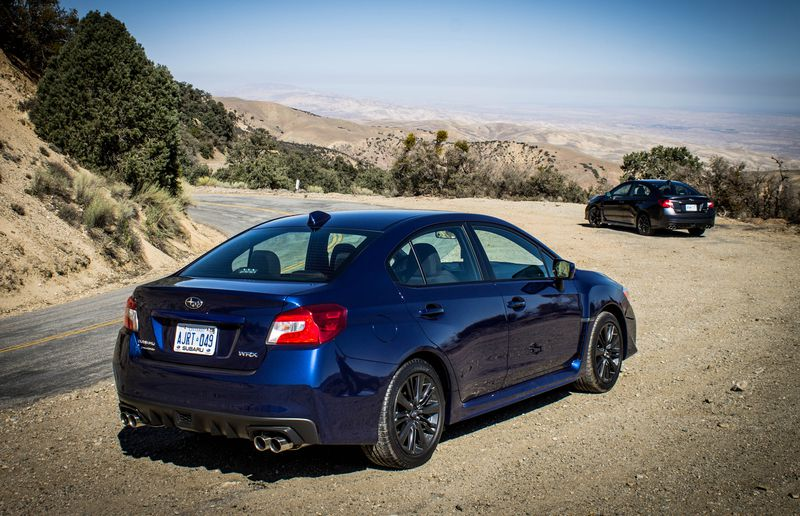 Quad exhaust pipes and a hood scoop are the only real giveaways of the 2015 Subaru WRX's true intentions.