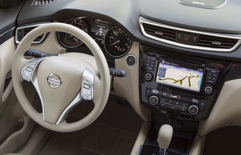 The 2014 Nissan Rogue's interior is feature-rich.