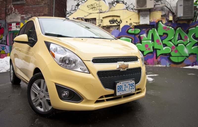 With 10 standard airbags the 2015 Chevrolet Spark is also a good option.