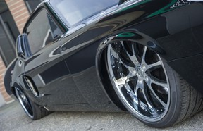 This radical black 1967 Ford Mustang, a 700-horsepower beast, was built by 360 Fabrication in Abbotsford, B.C.