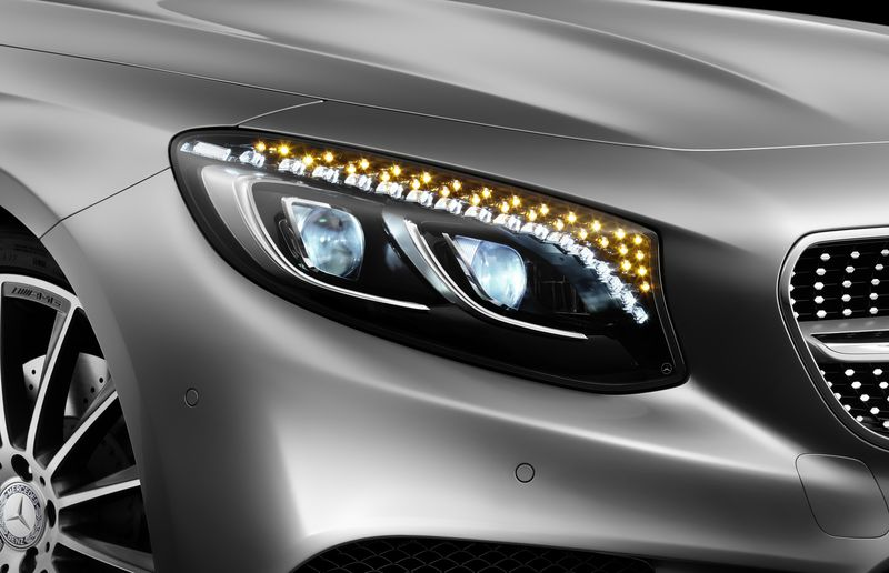 The 47 Swarovski crystals in the headlights of the 2015 Mercedes-Benz S-Class coupe are the ultimate automotive trump cards.