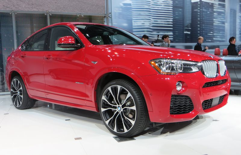 BMW's new X4 is unveiled at the New York International Auto Show.