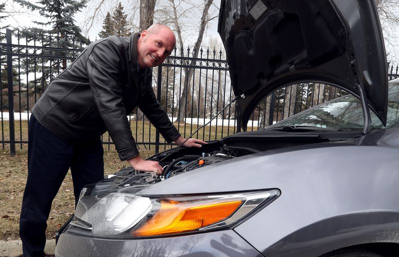 Driver Rob Price likes the power under the hood of the 2014 Honda Civic.