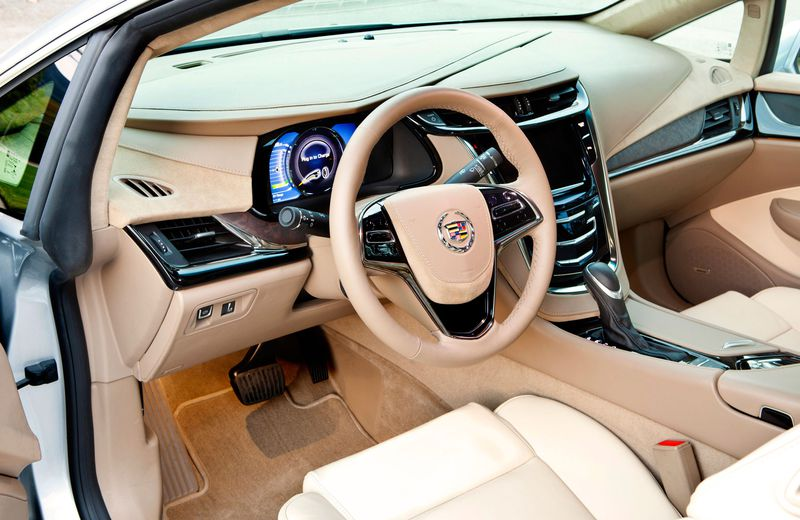 The Cadillac ELR's interior amps up the luxury, with emphasis on things like the leather and the build quality.