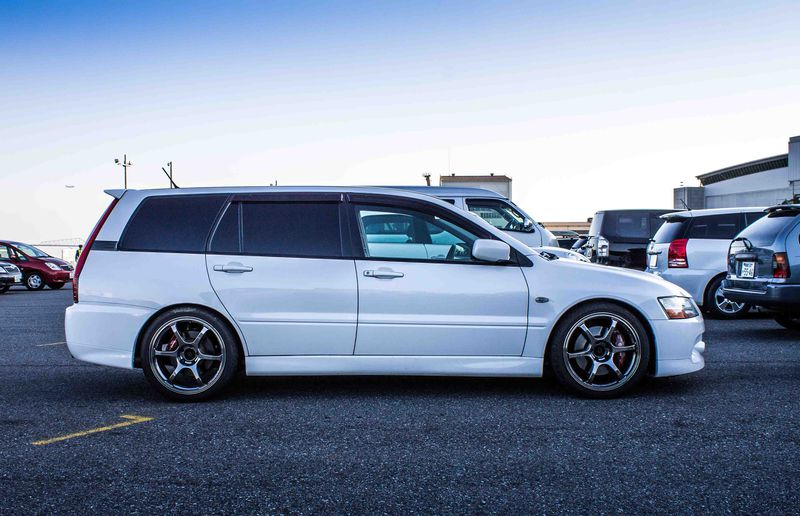 A rare sight to behold -- at one point, Mitsubishi offered an Evolution wagon in Japan.