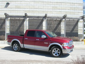 The 2014 Ram 1500 Laramie Crew Cab 4x4 offers a very commanding forward view, and a very luxury-car-like interior. The power is also there thanks to a 395-horsepower 5.7L Hemi V8 engine. But fuel economy, as you'd expect with a Hemi V8, is nothing to write home about.