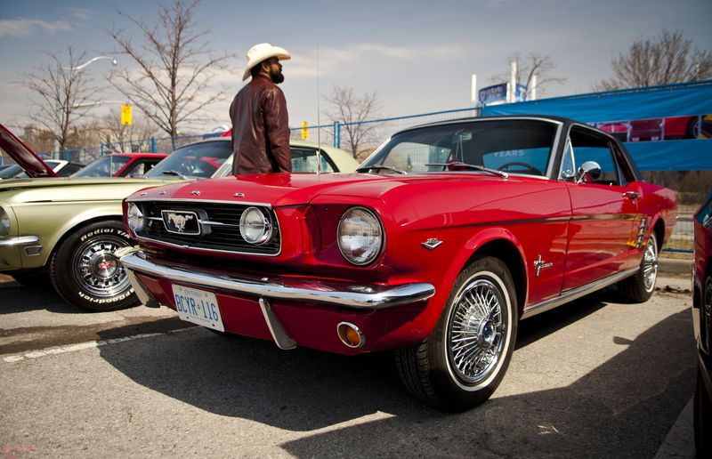 The earliest Mustangs were built on the Falcon platform starting in 1964.