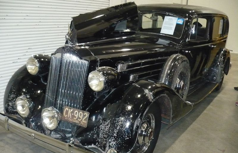 This 1936 Packard limousine ferried passengers from the Kitchener train station to the Walper Hotel for 25 years.