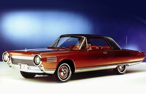 The experimental 1962 Chrysler turbine concept car spent time in Gardner Motors showroom where engineers started it every hour.