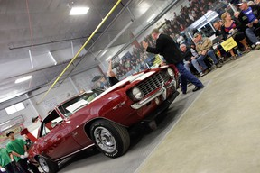 Action from last year's the Okotoks Collector Car Auction.
