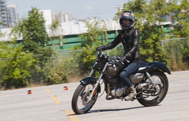 Driving's own Jodi Lai learned how to ride a motorcycle just last year.