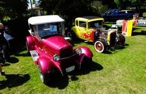 Longtime Richmond Hot Rodders Anne and Dave Boyce with their His and Hers Hot Rods.