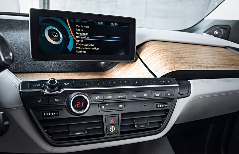 Lightweight materials abound inside and outside the i3.