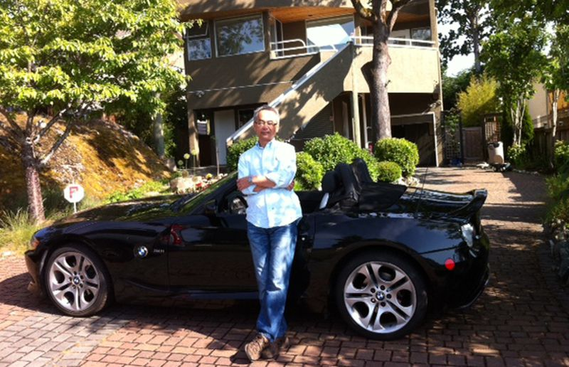 Frank Lai's current ride is a manual BMW Z4.