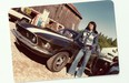 Jodi Lai's dad Frank with an amazing Mustang Fastback GT (and some pretty sweet bellbottoms).