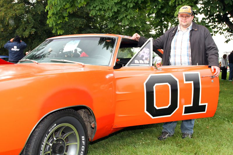 Steven Pavich's 1968 Dodge Charger R/T was a crowd pleaser at Old Cars Sunday in the Park.