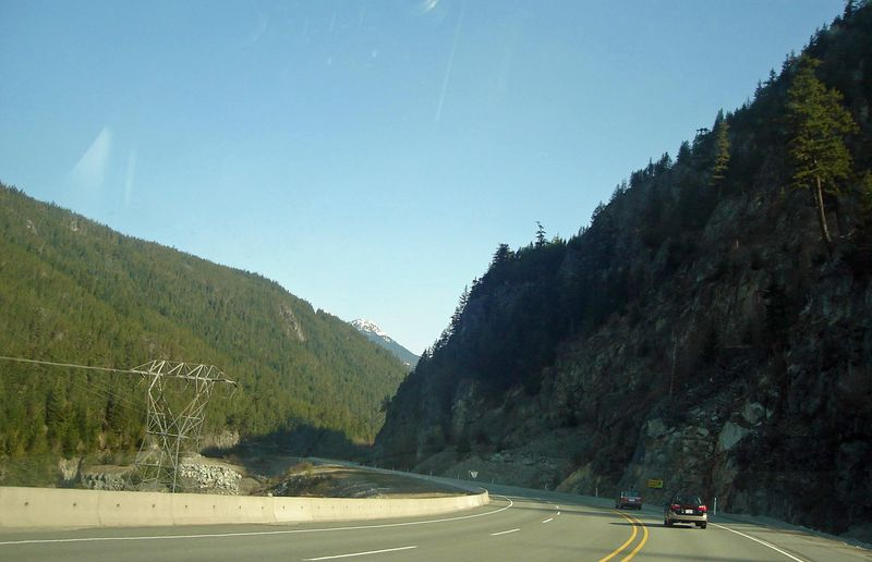 The Sea-to-Sky Highway (Highway 99) near Squamish, B.C.
