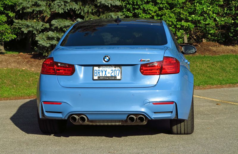 The exhaust note on the 2015 BMW M3 is very sweet indeed.