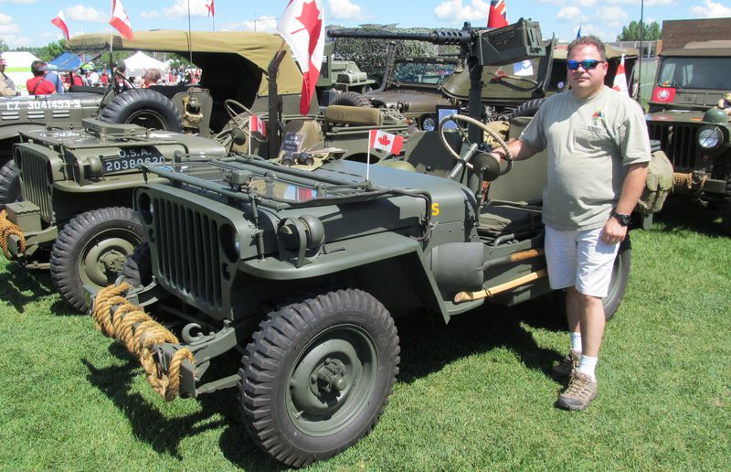 Jamie Melo displayed his Second World War Willys-built Jeep during Canada Day festivities in Sherwood Park. The vehicle has been restored to look like it did when it served the U.S. Marine Corps on Maui.