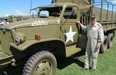 Reg Hodgson displayed his Second World War GMC 6x6 truck during Canada Day festivities in Sherwood Park. The vehicle has been restored to look like it did when it served U.S. forces in Europe.