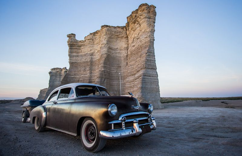 The Monument Rocks in western Kansas served as a landmark for native Indians and pioneers alike on the open prairie.