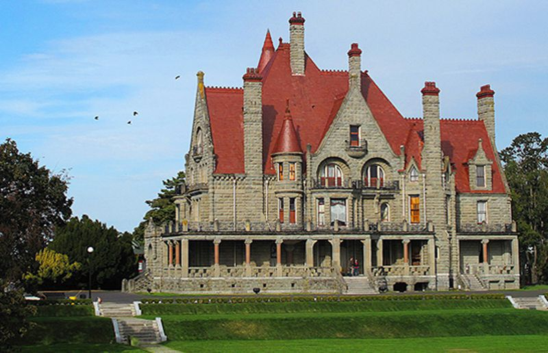 Craigdorroch Castle was built by coal barron Robert Dunsmuir on a hill overlooking Victoria in 1890.