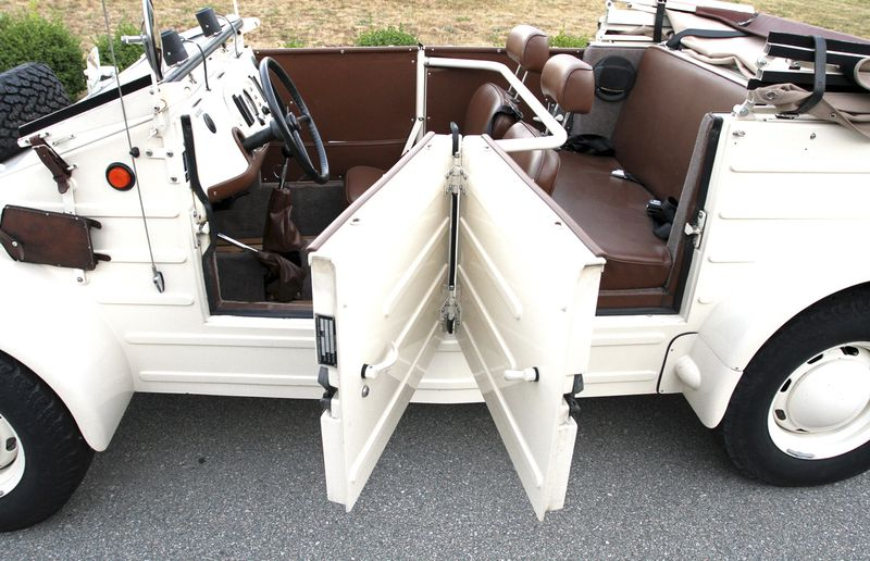 The K¸belwagen offers seating for four adults and a very unique door configuration.