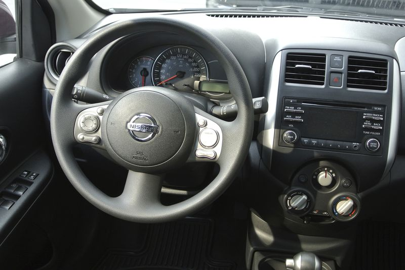 The Micra's interior isn't far off from one you'd find in a Nissan mid-level vehicle.