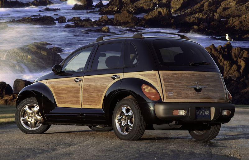 Yes, the PT Cruiser thought it was a hot rod. No, it actually wasn't. And no, that's not real wood.