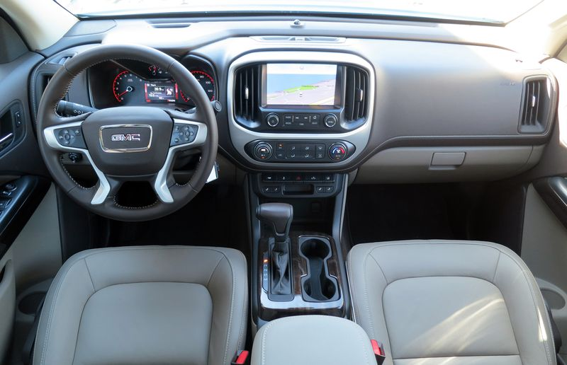 The 2015 GMC Canyon is whisper quiet on the inside.