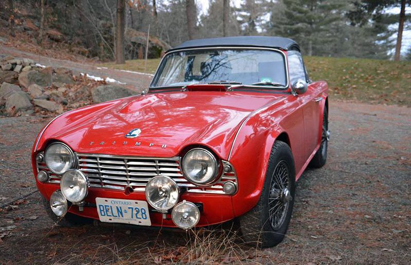 Jan and Tim's TR4.