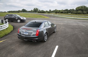 Currently, GM is testing its vehicle-to-vehicle (V2V) technology on the Cadillac CTS sedan.