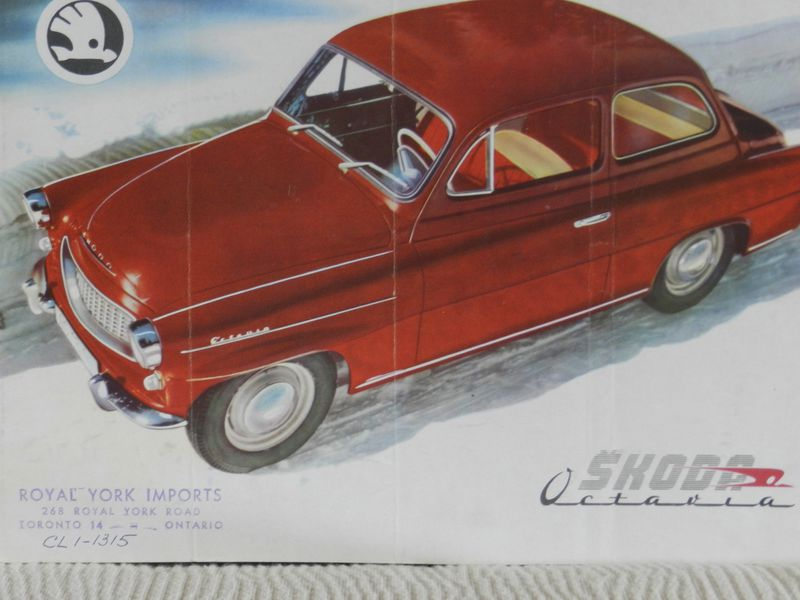This brochure advertising Skoda cars was collected from Royal York Imports in Toronto.