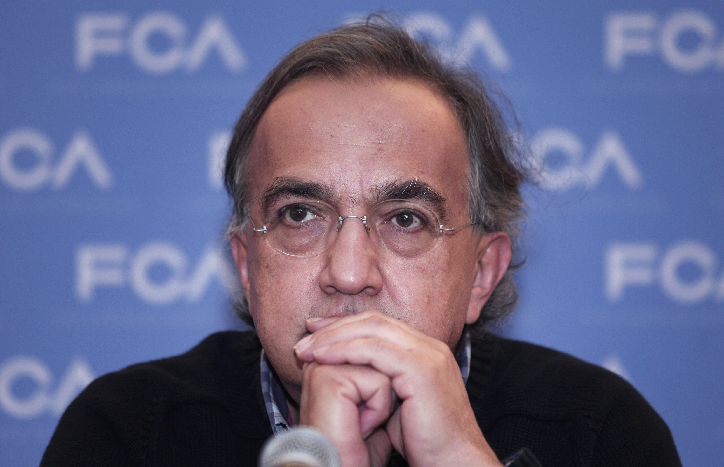 Chrysler CEO Sergio Marchionne Hosts Italian Prime Minister Renzi At Company's HQ