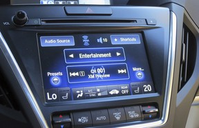 The touchscreen controller for audio and HVAC settings is very functional and easy to read.