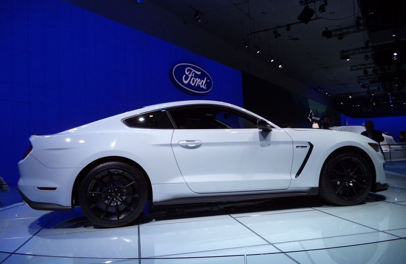The 2016 Ford Shelby Mustang GT350 at the Los Angeles Auto Show.
