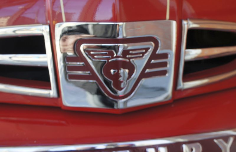 The Mercury winged messenger insignia on the hood.