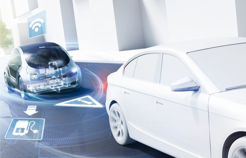 Bosch is trying to make cars talk to each other to ease traffic congestion and improve safety.